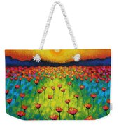 Sunburst Poppies Weekender Tote Bag