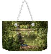 Sunday Fishing At The Lake Weekender Tote Bag