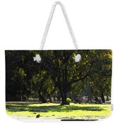 Sunday In The Park Weekender Tote Bag by Anne Mott