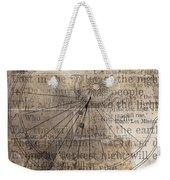 Sundial With Les Miz Weekender Tote Bag