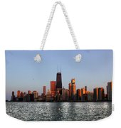 Sundown In The Chicago Canyons Weekender Tote Bag