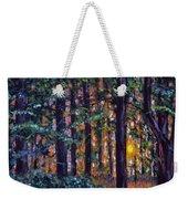 Sundown In Woods Weekender Tote Bag