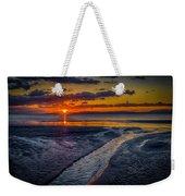 Sundown On Prestwick Beach Weekender Tote Bag