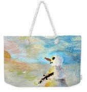 Sundown Snowman Weekender Tote Bag