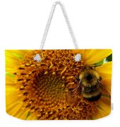 Sunflower And A Bee Weekender Tote Bag