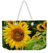 Sunflower And Bee II Weekender Tote Bag