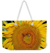 Sunflower And Bees Weekender Tote Bag