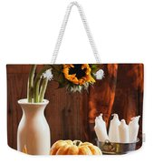 Sunflower And Gourds Still Life Weekender Tote Bag