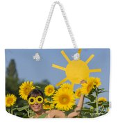Sunflower And Sun Weekender Tote Bag