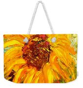 Sunflower Weekender Tote Bag by Barbara Pirkle