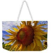 Sunflower Blue Weekender Tote Bag by Debra and Dave Vanderlaan