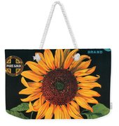 Sunflower Brand Crate Label Weekender Tote Bag