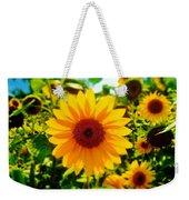 Sunflower Centered Weekender Tote Bag
