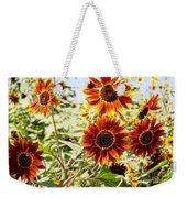 Sunflower Cluster Weekender Tote Bag by Kerri Mortenson