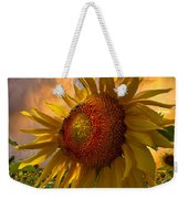 Sunflower Dawn Weekender Tote Bag by Debra and Dave Vanderlaan