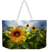Sunflower Dream Weekender Tote Bag by Debra and Dave Vanderlaan