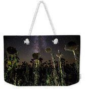Sunflower Field At Night Weekender Tote Bag