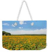 Sunflower Field New Jersey Weekender Tote Bag