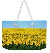 Sunflower Field, North Dakota, Usa Weekender Tote Bag