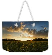 Sunflower Field Sunset Weekender Tote Bag