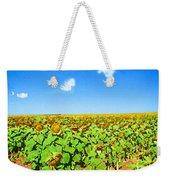 Sunflower Fields Forever Weekender Tote Bag