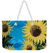 Sunflower Fun Weekender Tote Bag
