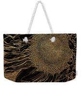 Sunflower Gold Leaf Sketch Weekender Tote Bag