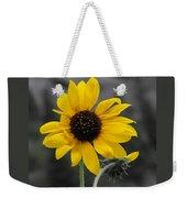 Sunflower On Gray Weekender Tote Bag