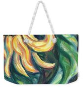 Sunflower One Panel Four Of Four Weekender Tote Bag