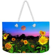 Sunflower Patch And Moon  Weekender Tote Bag