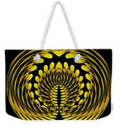 Sunflower Polar Coordinate Effect 1 Weekender Tote Bag