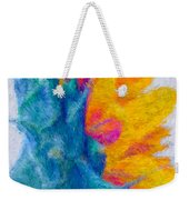 Sunflower Profile Impressionism Weekender Tote Bag