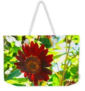 Sunflower - Red Blazer - Luther Fine  Art Weekender Tote Bag