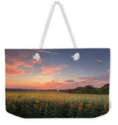 Sunflower Sunset Weekender Tote Bag by Bill Wakeley