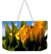 Sunflower Teardrop Weekender Tote Bag