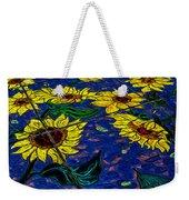 Sunflower Tiled Oil Painting Weekender Tote Bag