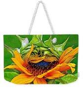 Sunflower Volunteer Half Bloom Weekender Tote Bag