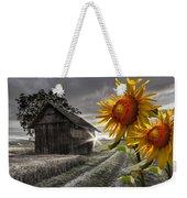 Sunflower Watch Weekender Tote Bag by Debra and Dave Vanderlaan
