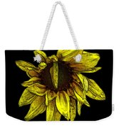 Sunflower With Contours Effect Weekender Tote Bag