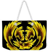 Sunflower With Warp And Polar Coordinates Effects Weekender Tote Bag