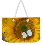 Sunflower With White Butterfly Weekender Tote Bag