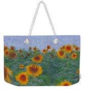 Sunflowerfield Abstract Weekender Tote Bag