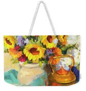 Sunflowers And Copper Weekender Tote Bag