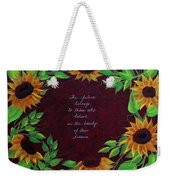 Sunflowers And Dreams Weekender Tote Bag