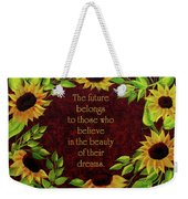 Sunflowers And Future Poem Weekender Tote Bag