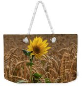 Sunflowers At Corny Weekender Tote Bag
