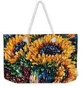 Sunflowers Bouquet In Vase Weekender Tote Bag