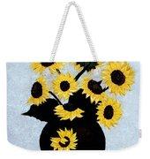 Sunflowers Expressive Brushstrokes Weekender Tote Bag