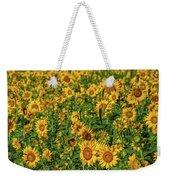 Sunflowers Helianthus Annuus Growing Weekender Tote Bag