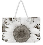 Sunflowers In Back And White Weekender Tote Bag